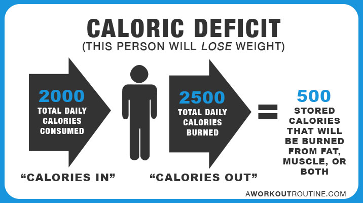 Caloric Deficit: This person will lose weight.